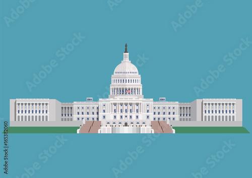 Obraz na plátne Capitol building United States of America