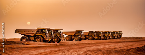 Mine Haul Trucks Canvas