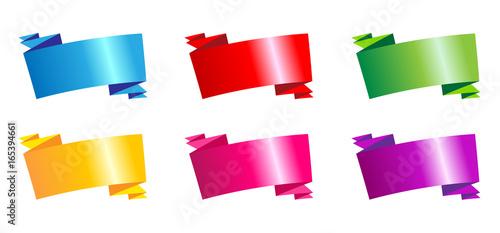 Valokuva  Ruban calicot 6 couleurs