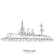 Cruiser Aurora Of Saint Peters...