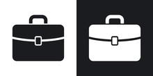 Vector Briefcase Icon. Two-ton...
