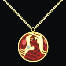 Ruby Medallion On A Chain With...