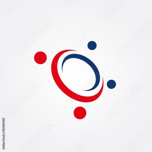 Obraz Planet space vector logo design template - fototapety do salonu