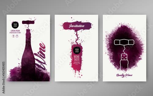 Fotografía  Design templates background wine stains