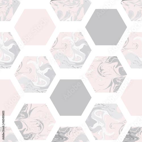 wzor-z-marmurowymi-szesciokatami