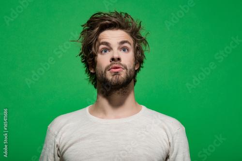 Fotografie, Obraz  hair and beard of man in white underwear
