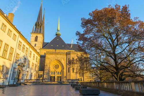 Fotobehang Monument Cathédrale Notre-Dame de Luxembourg