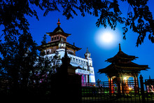 Buddhist Monastery In The Ligh...
