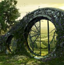 Gate Entrance To Enchanted Garden