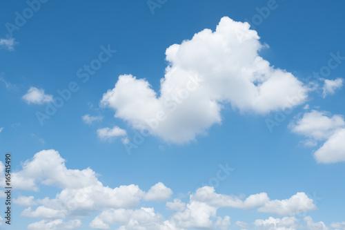 Foto  ciel bleu nuage blanc fond beau temps météo arrière plan
