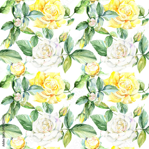 Wildflower Rose Flower Pattern In A Watercolor Style Full Name Of