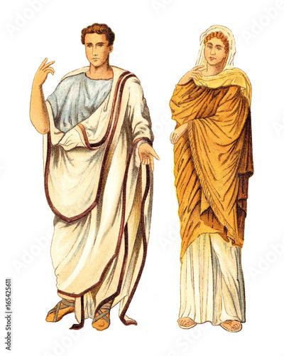 Fotografía Ancient roman man and woman (Ancient Rome) - vintage illustration