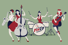 PinUp Girls Band. Four Beautif...