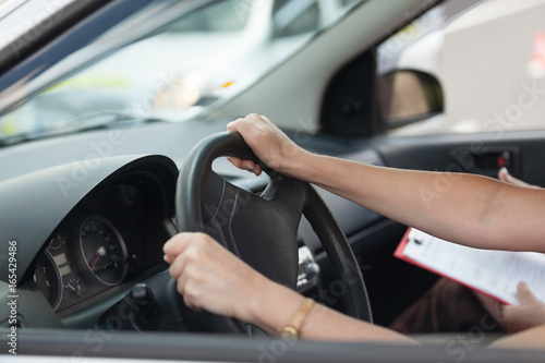 Fotografie, Obraz  Learning to drive a car