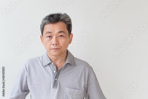 Fotografia portrait of middle age, old, senior man looking