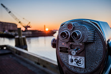 Sunrise And Binoculars