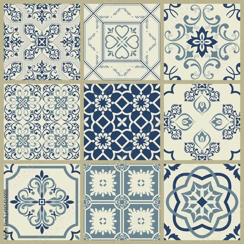 Fototapeten Künstlich Oriental traditional ornament, Mediterranean seamless pattern, tile design, vector illustration, seamless vector ornament, east.