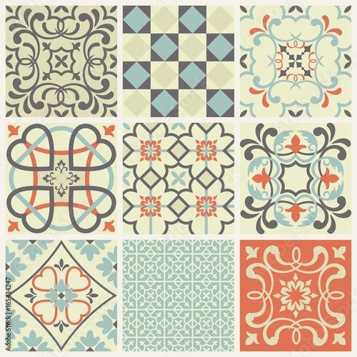 Fototapeta orientalna   oriental-traditional-ornament-mediterranean-seamless-pattern-tile-design-vector-illustration