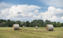 Hay Bales In A Hudson Valley Field