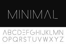 Thin Minimalistic Font. Elegant English Alphabet.