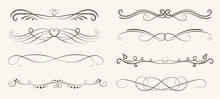 Vector Set Of Decorative Eleme...