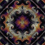 Seamless background. Mosaic art pattern of small circles. Polka dot pattern. - 165471246