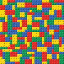 Colorful Lego Brick Seamless B...