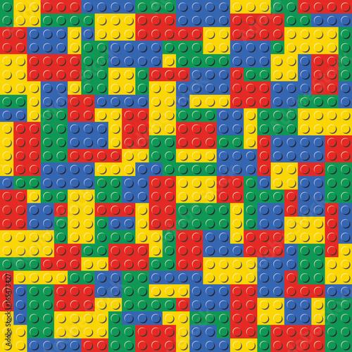 Kolorowa Lego wzoru tła wektoru Ceglana Bezszwowa ilustracja