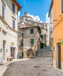 Scenic sight in Subiaco old town, province of Rome, Latium, central Italy.