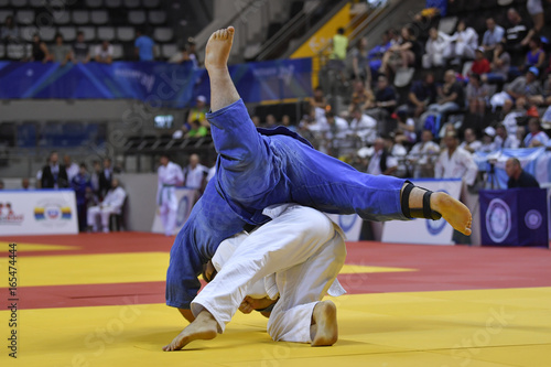 Fotografie, Obraz  Male Judoka fighters during Judo competition