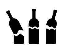 Broken Bottle Vector Icon