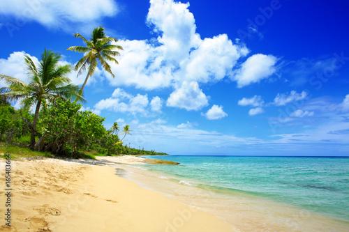Recess Fitting Caribbean Caribbean sea and white sand beach.