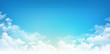 Leinwandbild Motiv Blue sky white clouds