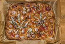 After Baking Of Marijuana Apricot Cake