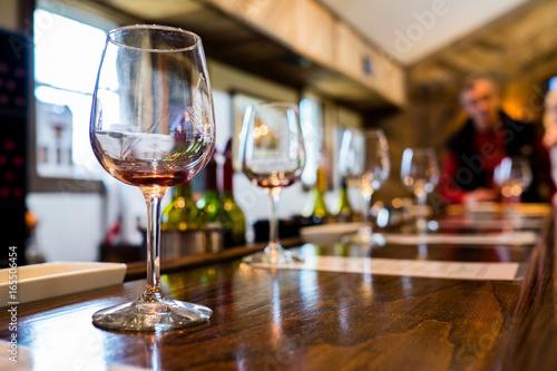 Tasting bar at a winery Fotobehang