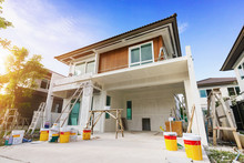 Exterior View Of New House Und...