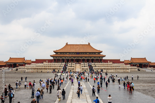 Keuken foto achterwand Peking Central hall of The Forbidden City in Beijing, China