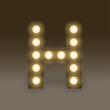 Alphabet Incandescent Light Bu...