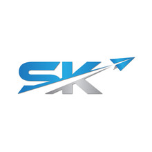 SK Initial Letter Logo Origami...
