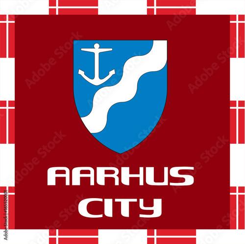 Photo  National ensigns of Denmark - Aarhus