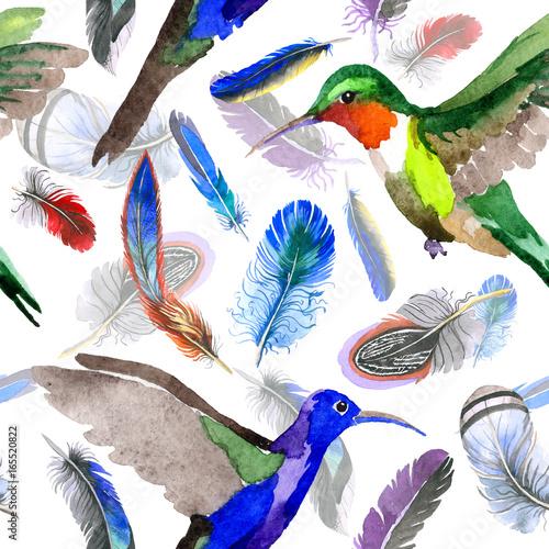 akwarela-wzor-pioro-ptak-od-skrzydla-aquarelle-dziki-kwiat-dla-tla-tekstury