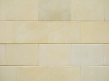 Beige Sandstone Wall For Backg...