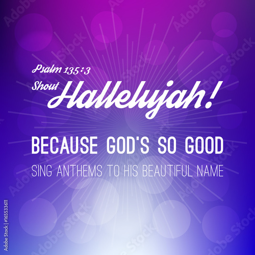 Fotografía shout hallelujah calligraphic hand lettering from psalm, bible verse for christi