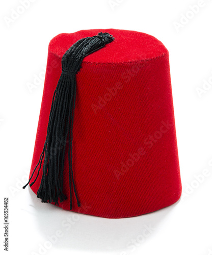 Traditional Turkish Hat Called Fez Isolated - Buy this stock