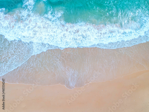 Sea aerial view,Top view,amazing nature background.The color of the water and beautifully bright.Azure beach with rocky mountains and clear water of Thailand ocean at sunny day.