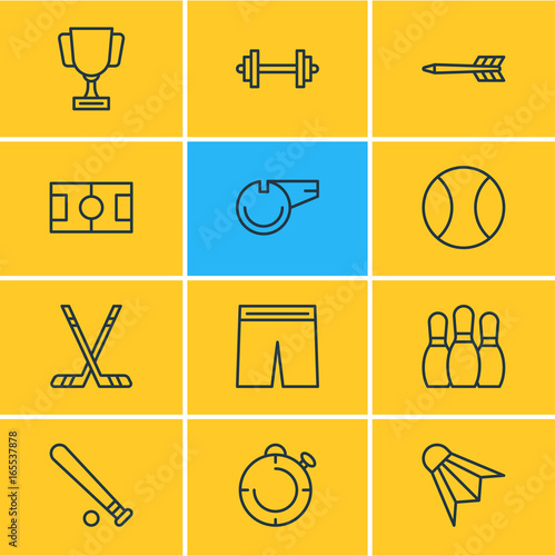 Photo  Vector Illustration Of 12 Fitness Icons