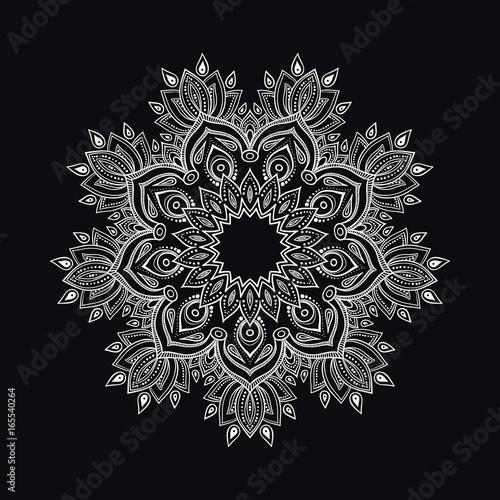 Hand drawn abstract mandala design Canvas Print