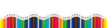 Wave Of Colorful Wooden Pencil...