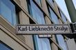 Karl Liebknecht Straße street sign. Karl-Liebknecht-Straße is a major street in the central Mitte district of the German capital Berlin