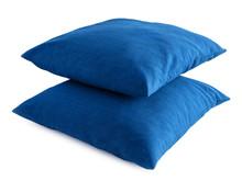 Zwei Blaue Kissen